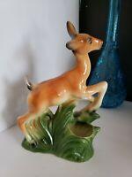 Vintage Mid Century Modern Doe Deer Ceramic Pottery Planter Figurine Large