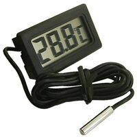 Digital LCD Thermometer Probe Temperature Water Fish Tank Aquarium black