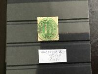 Schleswig-Holstein 1865  used Rouletted  stamp R30485