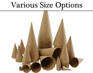 Paper Mache Cones to Decorate - Choice of Sizes | Papier Mache Shapes