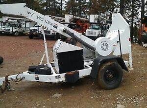 "2011 Altec WC126A Woodchipper 12"" Drum Kubota Diesel Trailer Mounted Forestry"