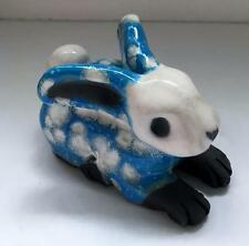 Crain Art Studio Individually Sculpted Ceramic Bisque Fired and Glazed Bunny