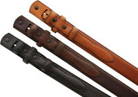 """5547500 Genuine Leather Ranger Belt Strap 1-3/8"""" tapers to 3/4"""" wide"""