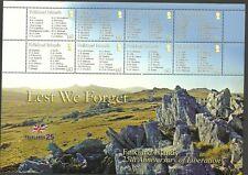 FALKLAND ISLAND SGMS1077-LEST WE FORGET 2 SHEETLETS MNH