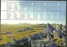 Malvinas Isla sgms1077-lest nos olvidamos de 2 Hojas De Sellos Mnh