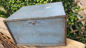 Nice Old Blue Metal Box with side handles