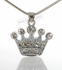 Silver Plated Pendant Necklace lucky charm crown Jewish Judaica Kabbalah