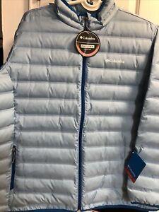 $140 NWT Columbia Women's Down Blend Beautiful Coat/Jacket Size 2X Light Blue