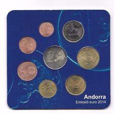 Starter Kit Euro Andorra 2014 FDC Fior di Conio Nuovo New 8 monete da 0,01 a 2 E