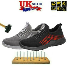 Mens Steel Toe Cap Saftey Protective Shoes Lightweight Working Trainers UK Boots