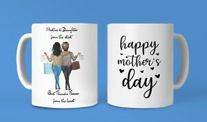 Mother & Daughter Personalised Mug! Special Gift! Best Friends Forever! ❤️