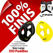 Finis ISO Strapless Isolation Paddles Size L Large Swimming Swim Training Aid