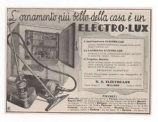 Pubblicità epoca 1933 ELECTRO LUX ASPIRAPOLVERE CASA advert werbung publicitè