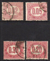 Italy 4 Stamps c1875 Used (5480)