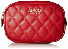 GUESS SWEET CANDY MINI Red QUILTED FANNY PACK Belt Bag Handbag