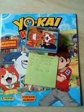 Colección cromos yo-kai watch incompleta de panini con el album