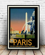Paris France Travel Advertising Poster reproduction