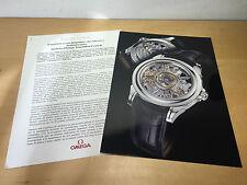 Press Release Omega - Omega Tourbillon Central Skeleton - Spanish Spanish