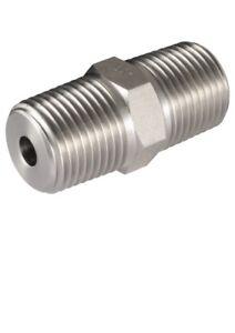 Hydraulic Nipple Adaptor 700 Bar 3/8 x 3/8npt Male x Male Long