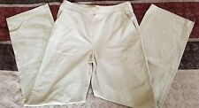 Womens Christopher & Banks Light Brown Stretch Pants Size 6