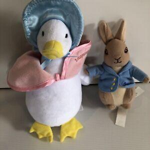 Peter Rabbit 15 Cm & Jemima Puddle Duck 21 Cm Plush Toys Movie Beatrix Potter
