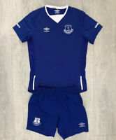Boys kids Everton home football kit size LB/152 Umbro 2015-2016