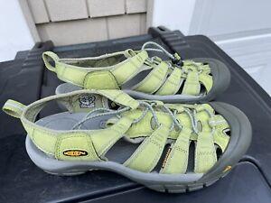 KEEN NEWPORT Women's Lime Green Waterproof Hiking Sport Sandals size 9.5 eu 40