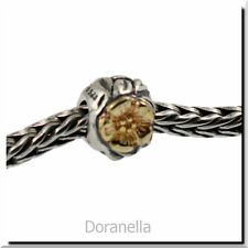 Authentic Trollbeads Silver & 18k Gold 41804 Flowers 7