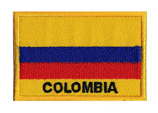 Écusson patche patch drapeau pays monde COLOMBIE 70 x 45 mm à coudre