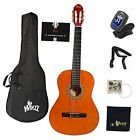 39 Inches Classical Guitar Full Size Beginner Acoustic with Online Lessons  for sale