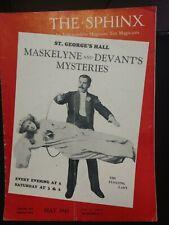 Maskelyne Devants Mysteries Issue 1943 Sphinx Magazine