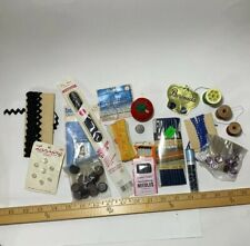 Lot Of Vintage Assorted Sewing Supplies Needles Thread Clasps Rick Rack - Lot 2