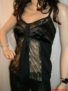 30/1 PREOWNED BLACK SHAPED UNPADDED BRA LACE SHOULDER STRAP MK ONE TOP 10