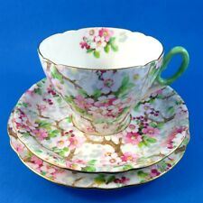 Pretty Maytime Chintz Shelley Tea Cup, Saucer and Plate Trio Set