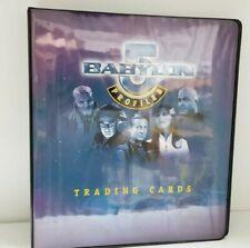 Babylon 5 Profiles Collectible Trading Card Binder Album