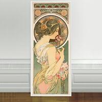 "Stunning Alphonse Mucha Primrose ~ CANVAS PRINT 24""X10"" Art Nouveau"