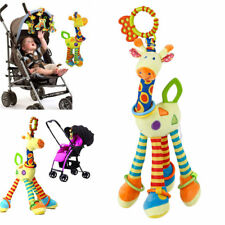 NEW Cartoon Giraffe Hand Bell Ring Rattle Baby Bed Hanging Educational Toy