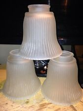 REPLACEMENT GLASS LAMP GLOBES SHADES CEILING FAN LIGHTING REPLACEMENT- 3 FROSTED