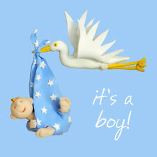IT'S A BOY NEW BABY BOY greeting card un' unica volta o due santi sgombri CARDS