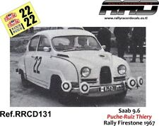 DECAL/CALCA 1/43; Saab 9.6; Puche-Ruiz thiery; Rally Firestone 1967