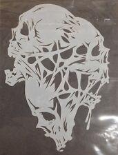 3 skull mylar reusable stencil 10 mils  for Airbrush design art & craft