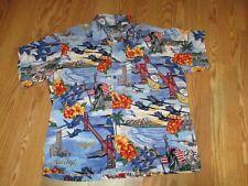 Blue Angels San Francisco fleet week button front camp shirt