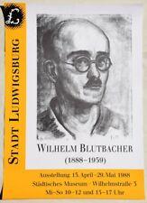 Wilhelm Blutbacher 1888-1959 / Plakat zur Ausstellung 1988 Ludwigsburg