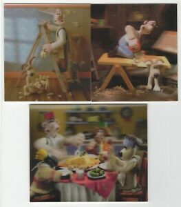 4 Wallace and Gromit Lenticular 3-D Pictures