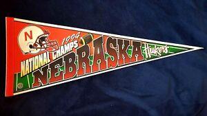 NEBRASKA CORNHUSKERS PENNANT 1994 NATIONAL CHAMPIONS LOGO FULL SIZE