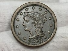 VF/XF 1853 Large Cent.  #48