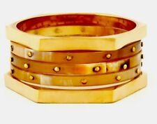 Ladies BARCS Rustic Gold Bangle Stack. NWT $69.95