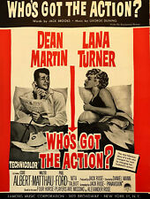 LANA TURNER & DEAN MARTIN sheet music WHO'S GOT THE ACTION? (1962)