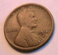 1914-S Lincoln Nice (G) Good Wheat Cent Original Brown One Penny Bronze US Coin