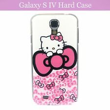 Cartoon Hello Kitty w Ribbon Hard Back Case Cover Samsung Galaxy S4 S IV & Film